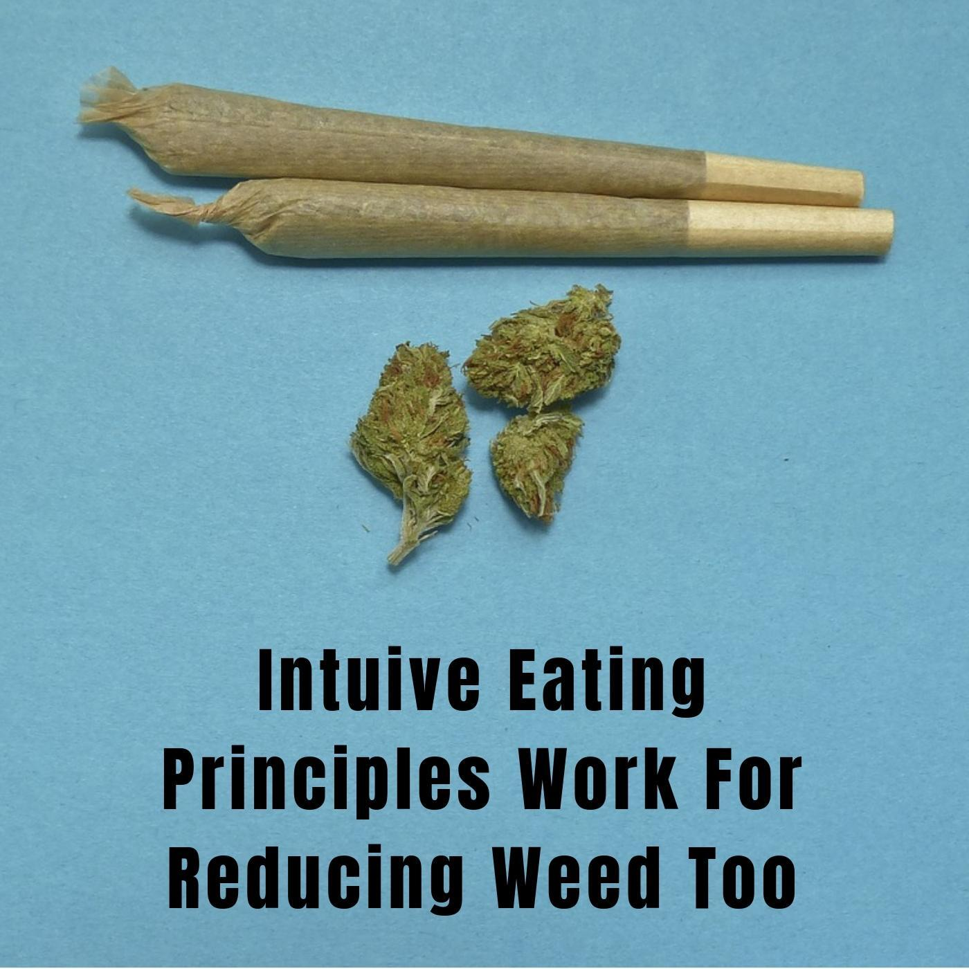 to eat intuitively you must follow intuitive eating principles and these principles work for weed too picture of joint