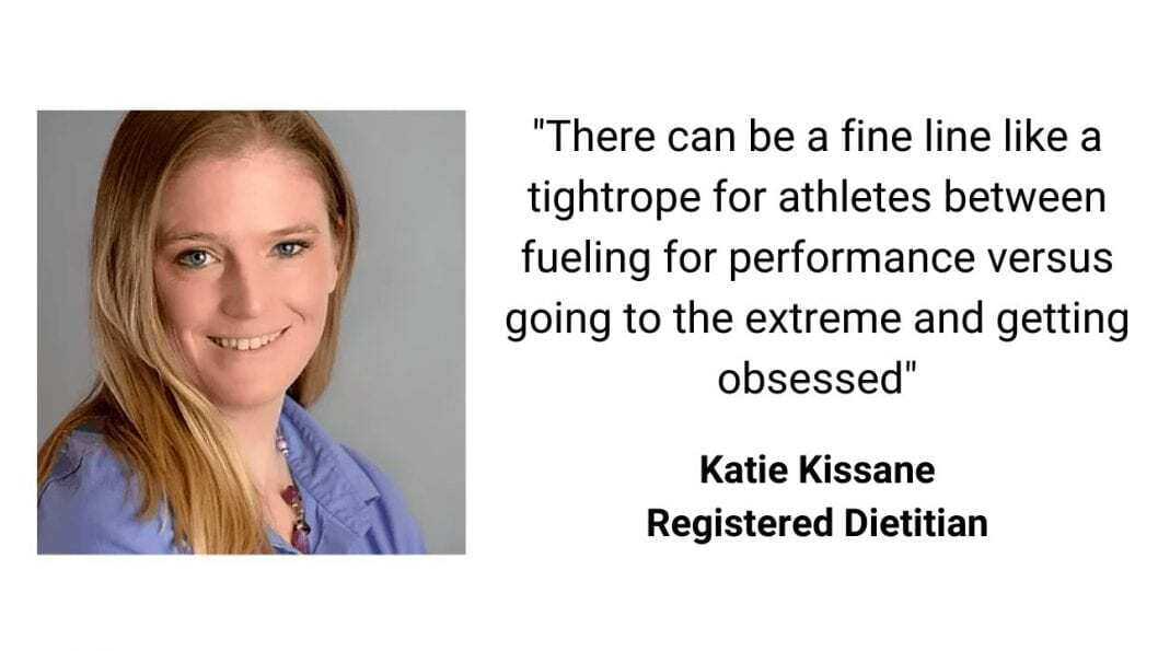 eating disorder in athletes with katie kissane quote saying athletes can be prone to eating disorders