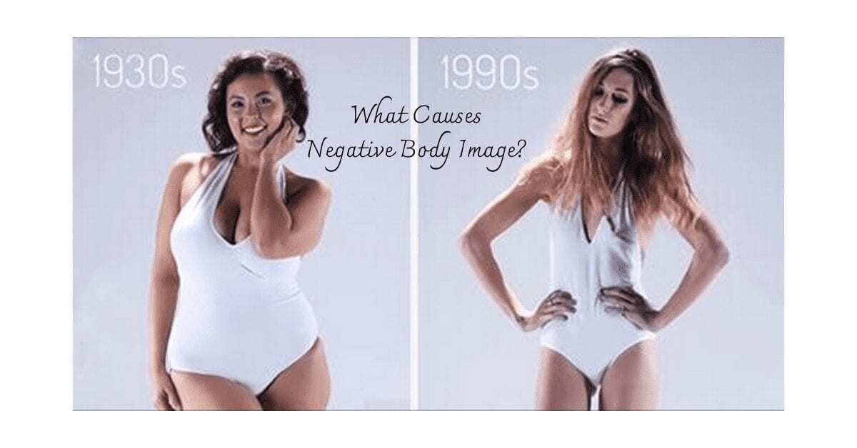 body image and self esteem picture with woman in 1930's having bigger hips than woman in 1990's
