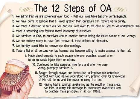 the 12 steps of overeater's anonymous