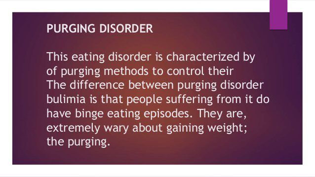 purging disorder definition