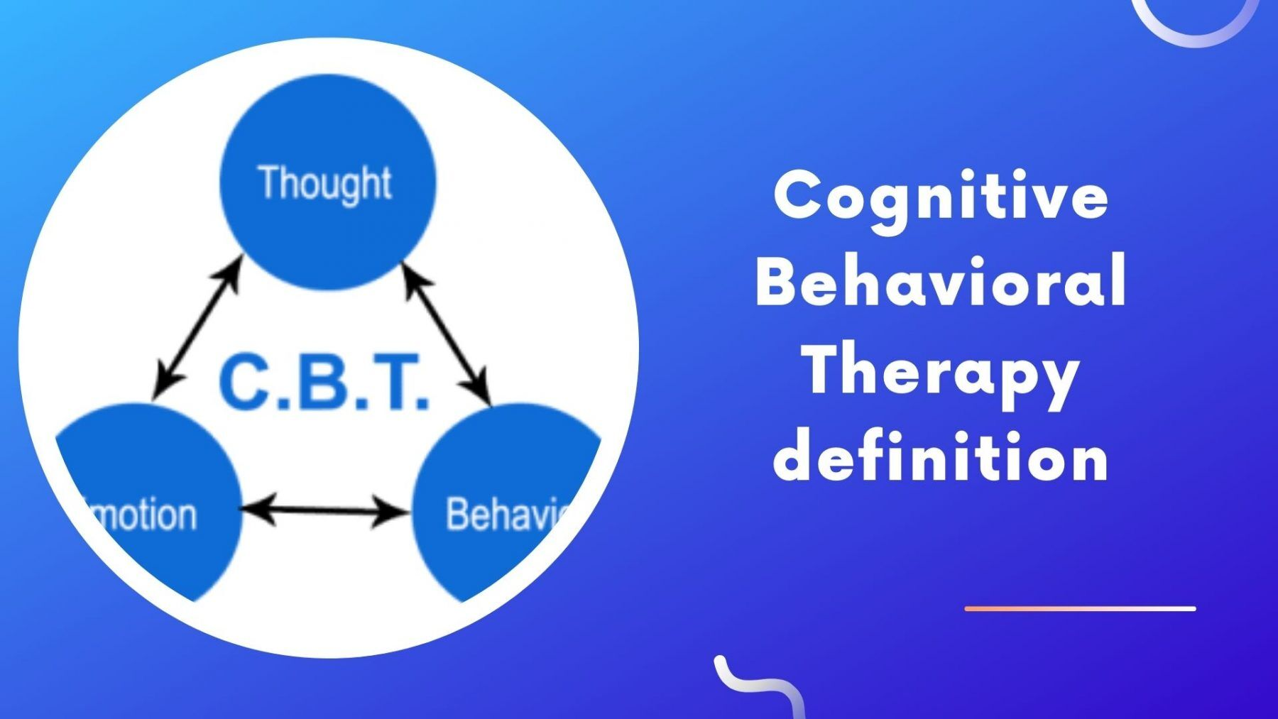 cognitive behavioral therapy definition
