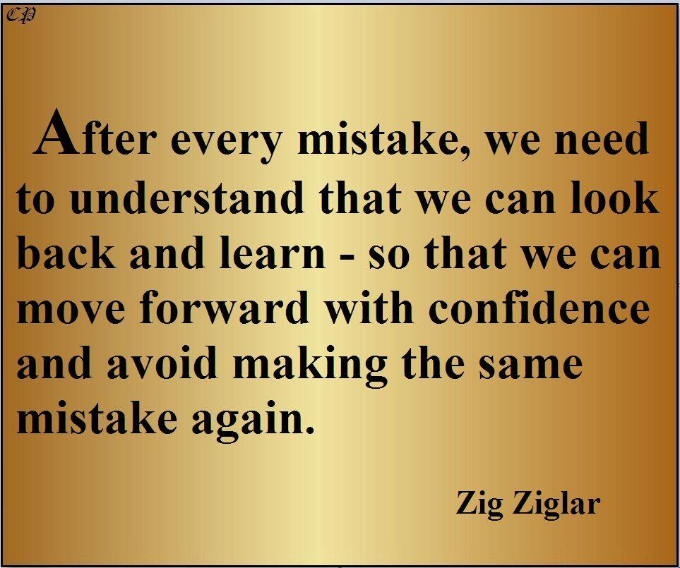 learn from mistakes and triggers zig quote